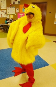 She was an AMAZING dancing chicken!