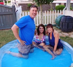 Last summer in our fabulous backyard pool!