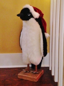 The mysterious Christmas penguin who magically appears on the stairs the day after Thanksgiving.