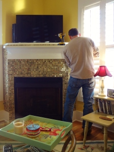 My handsome handy-man re-attached all the outlet covers and turned the electricity back on.