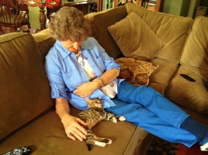 Mama fell in love with Scrappy and gave her lots of attention while she recovered from surgery.