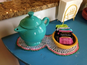 They probably made fun of my tea service, but hey, what does an redneck girl know about British tea time!