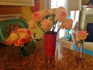The bride's mom left me lots of nice roses from the ceremony. I enjoyed them for a week.