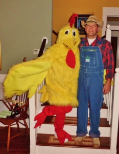 Farmer Jim and his crazy Chick.