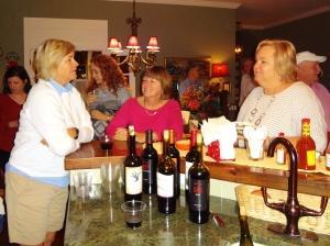 These three ladies drank all my wine!